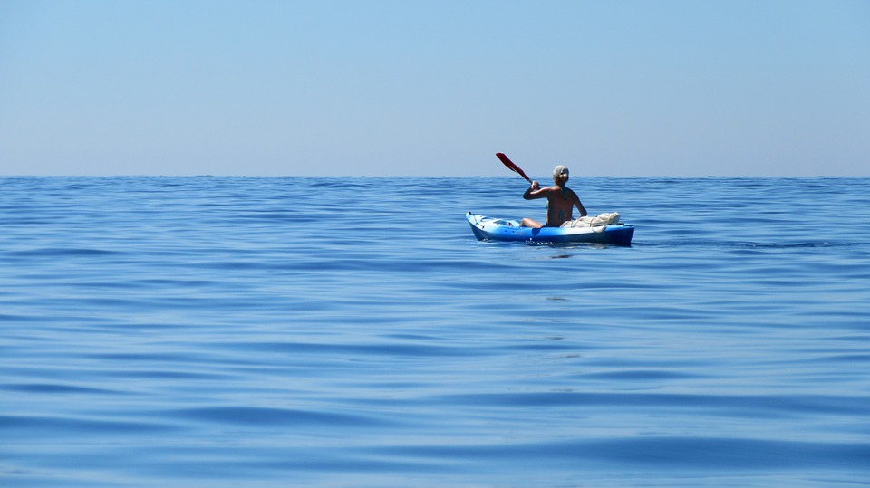 Kayak en plaine mer